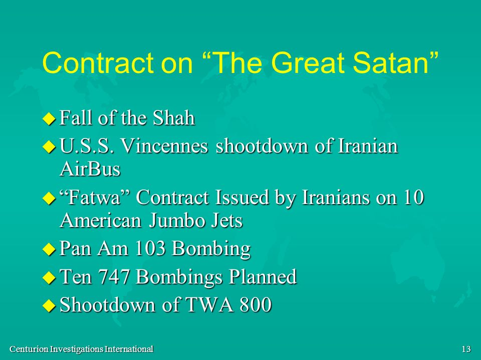 Contract on The Great Satan