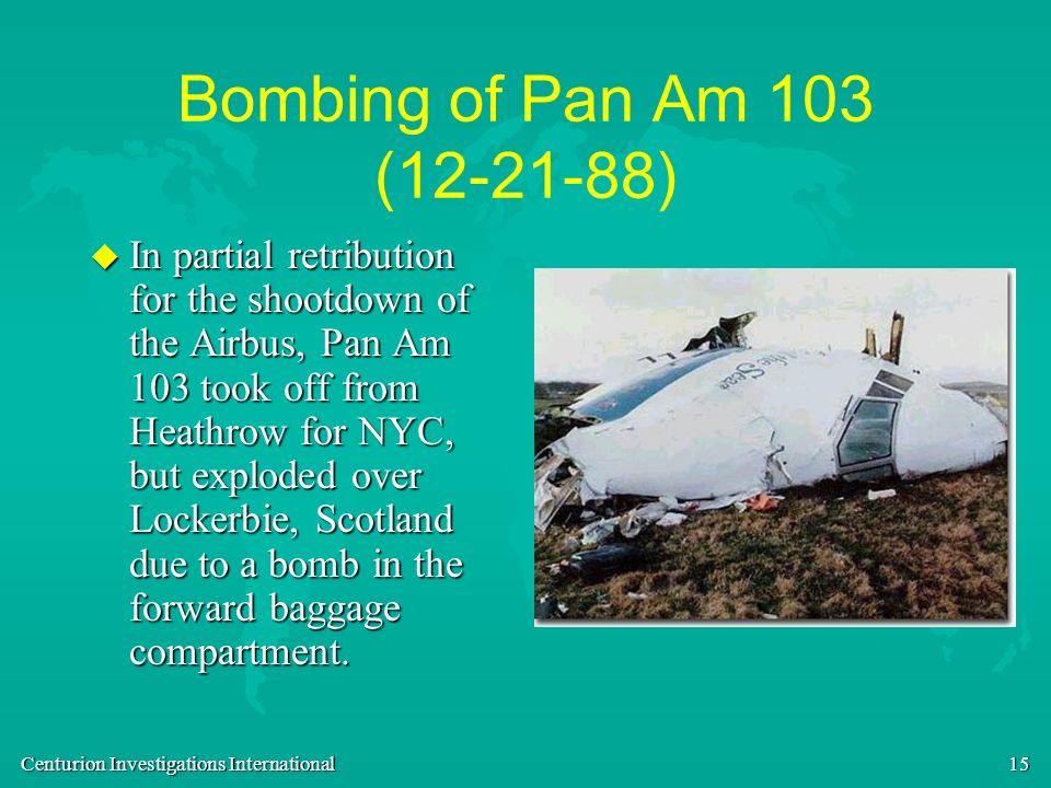 Bombing of Pan Am 103 ( )