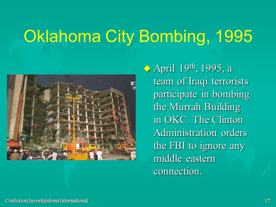 Oklahoma City Bombing, 1995