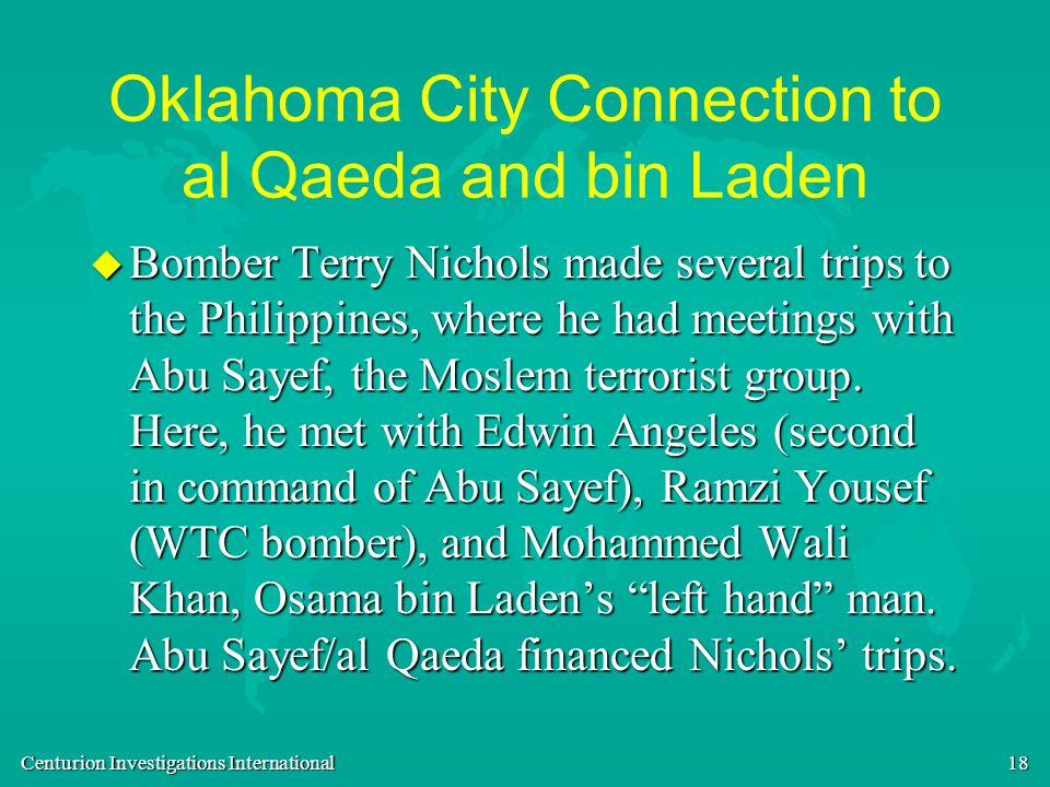 Oklahoma City Connection to al Qaeda and bin Laden