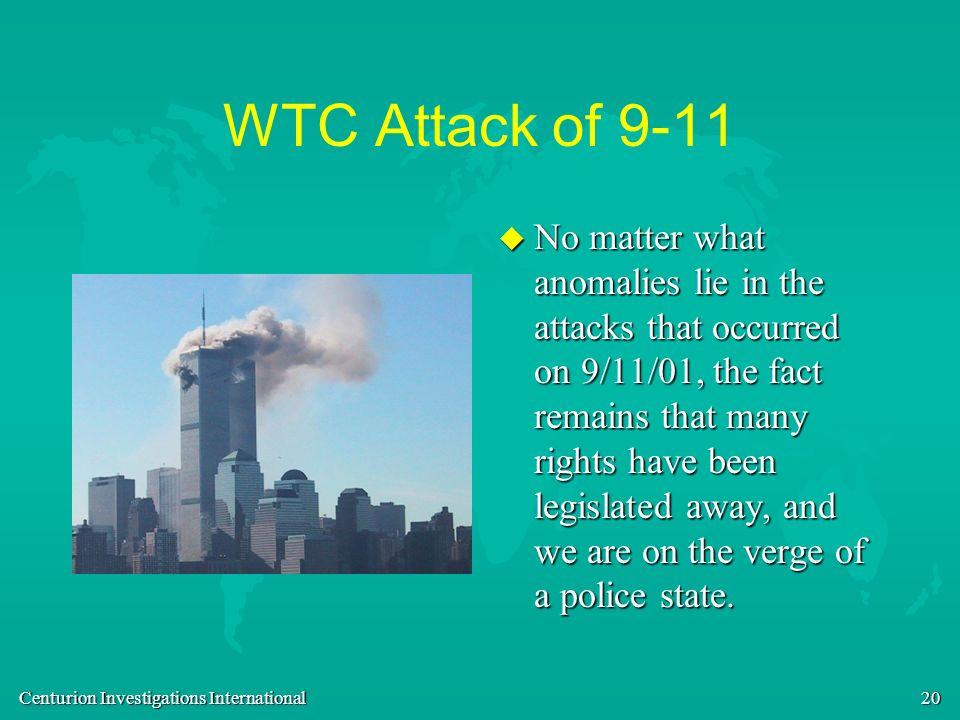 WTC Attack of 9-11
