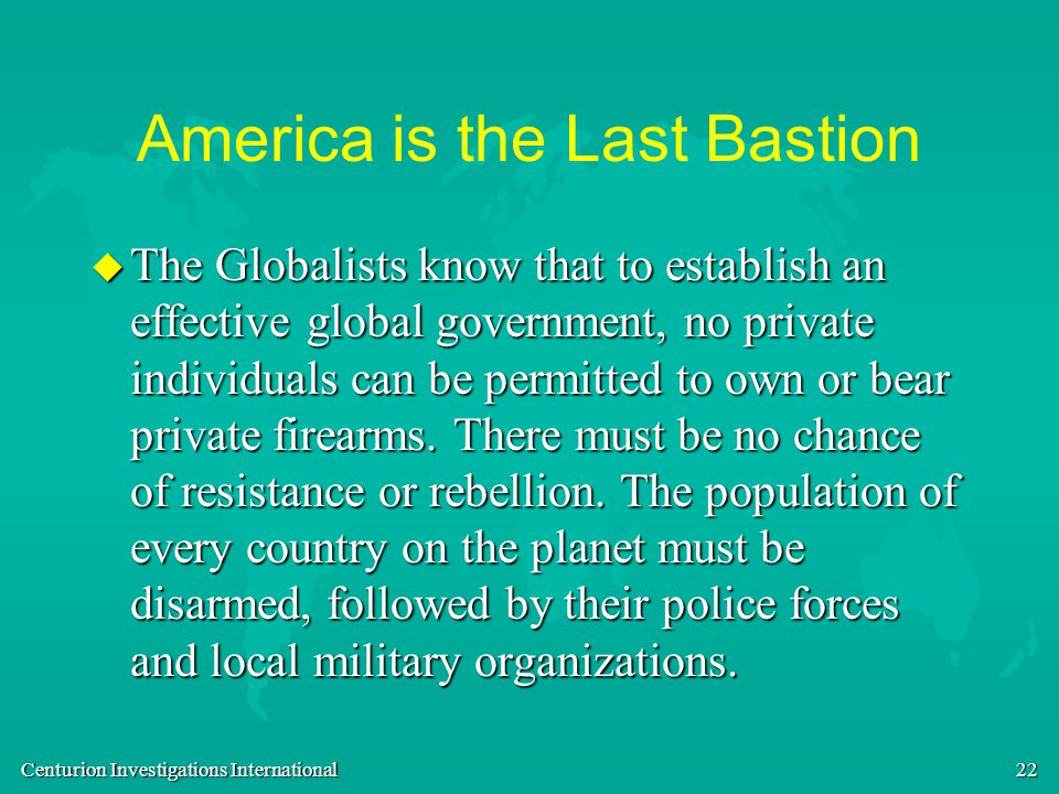 America is the Last Bastion