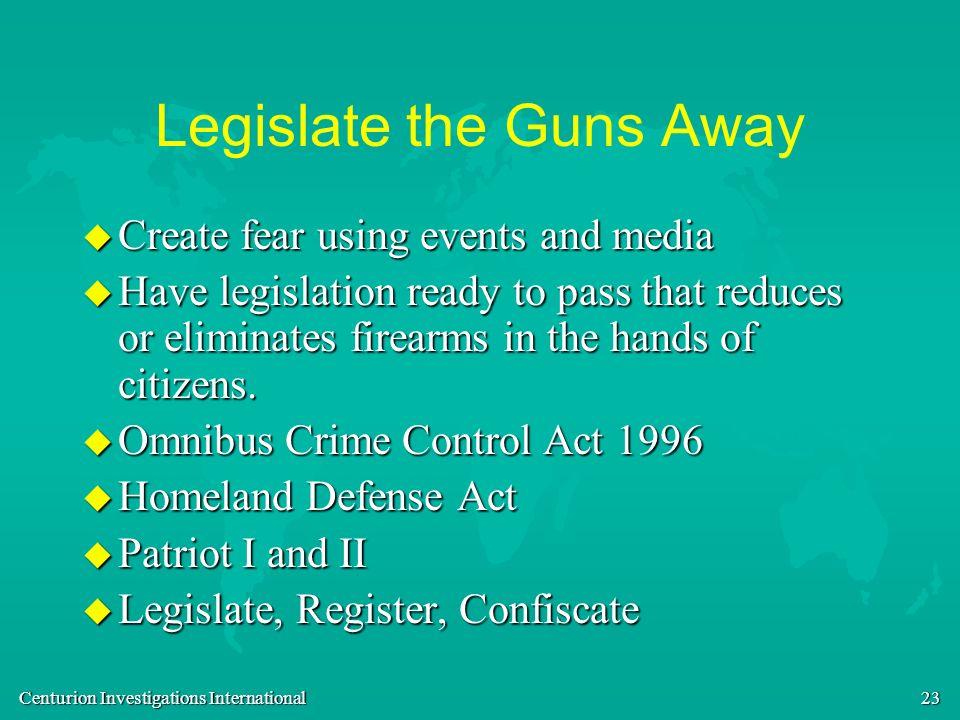 Legislate the Guns Away