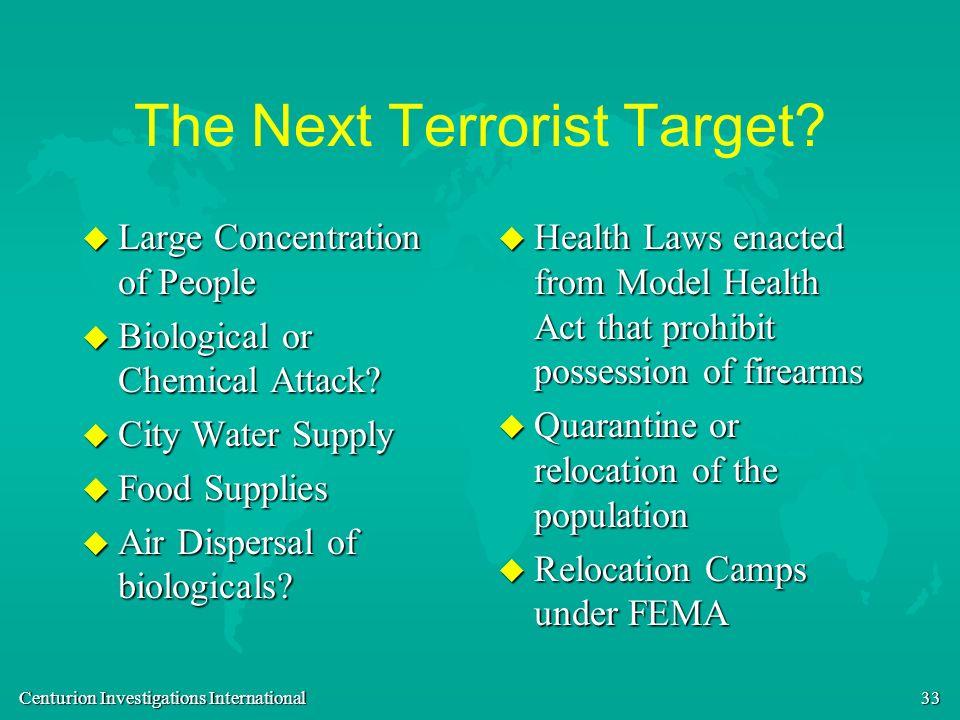 The Next Terrorist Target
