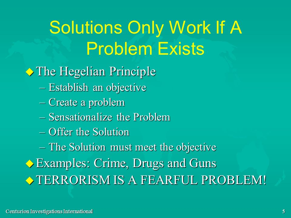 Solutions Only Work If A Problem Exists