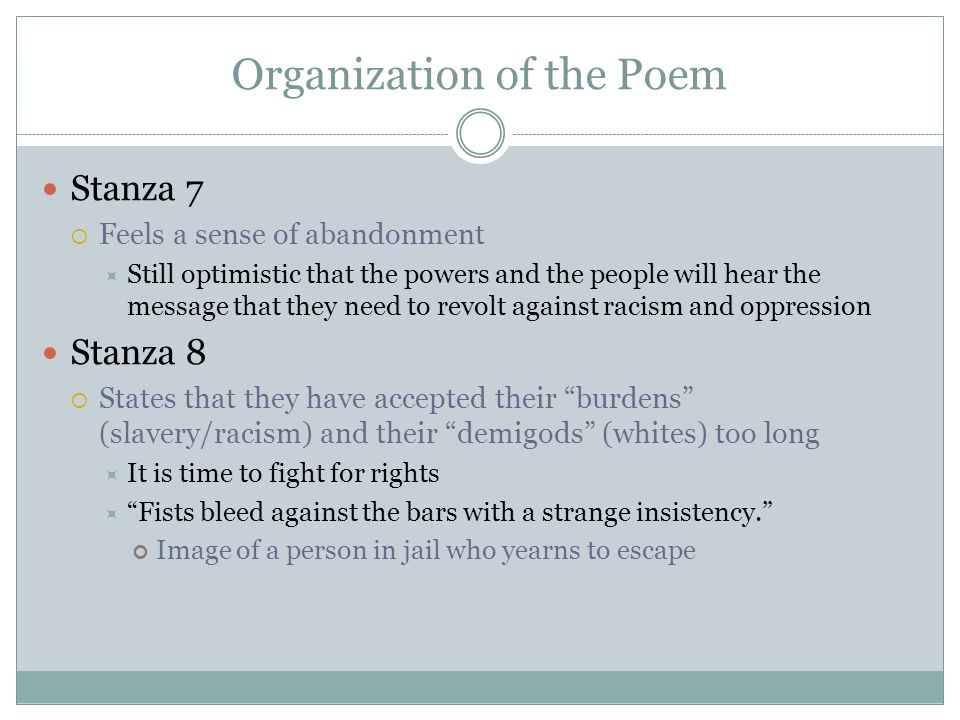 Organization of the Poem
