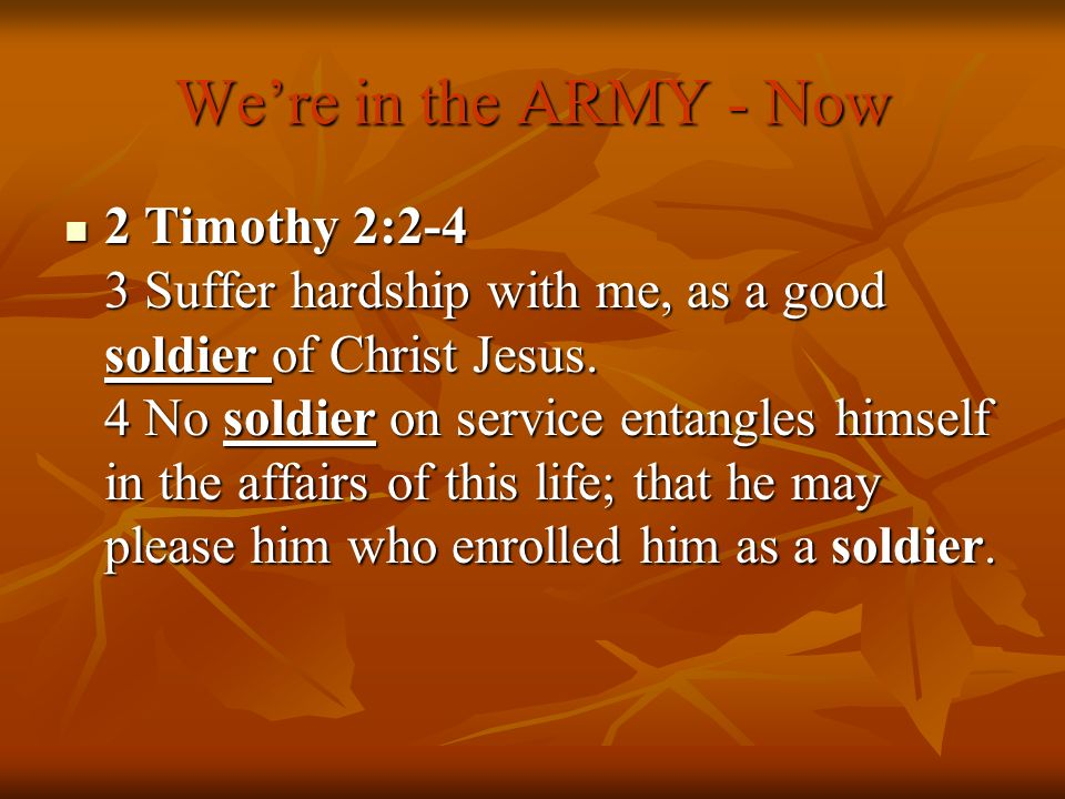 We're in the ARMY - Now