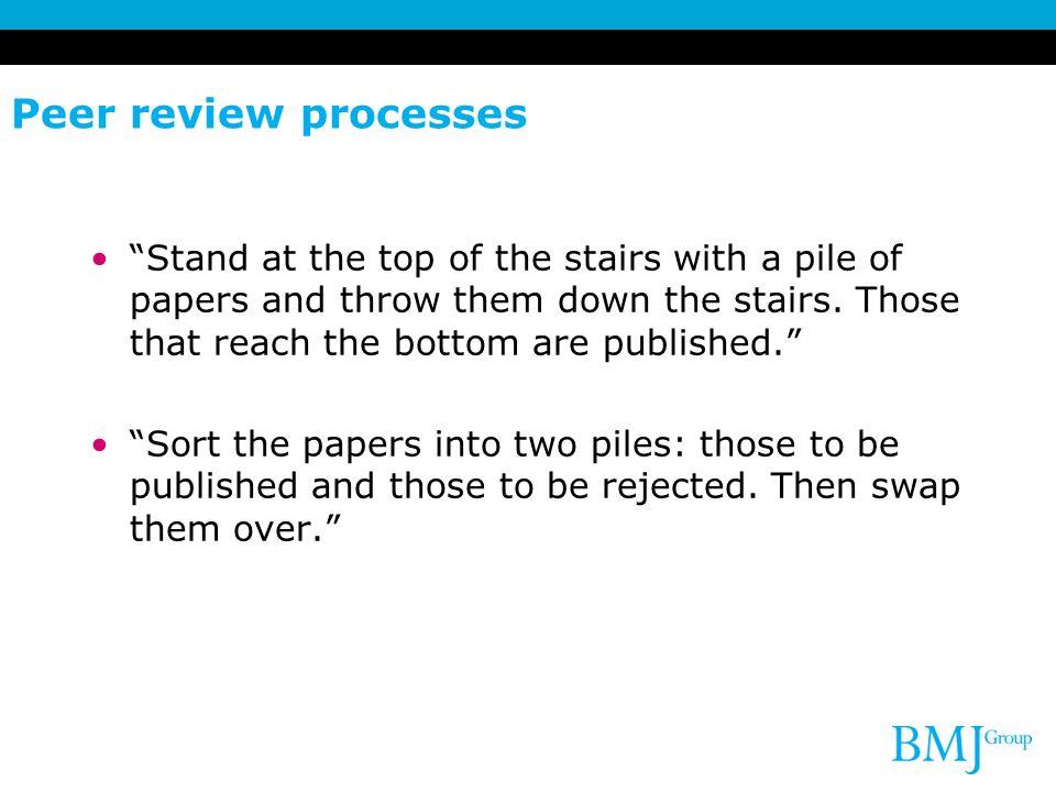 Peer review processes