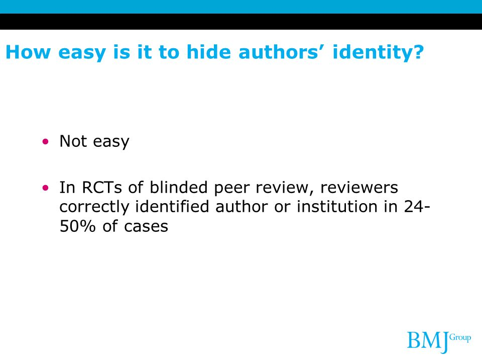How easy is it to hide authors' identity