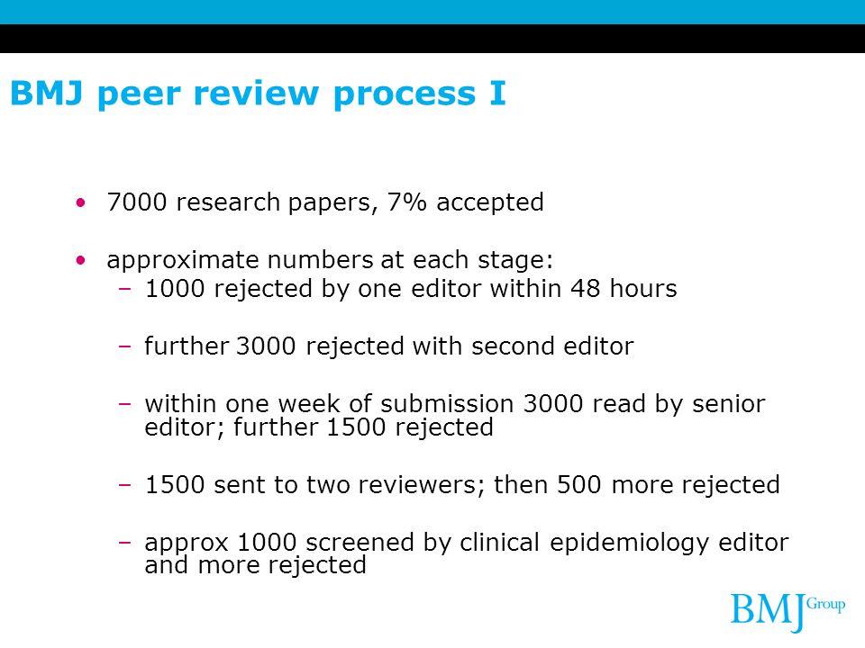 BMJ peer review process I