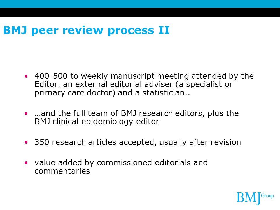 BMJ peer review process II