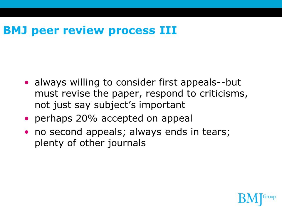 BMJ peer review process III