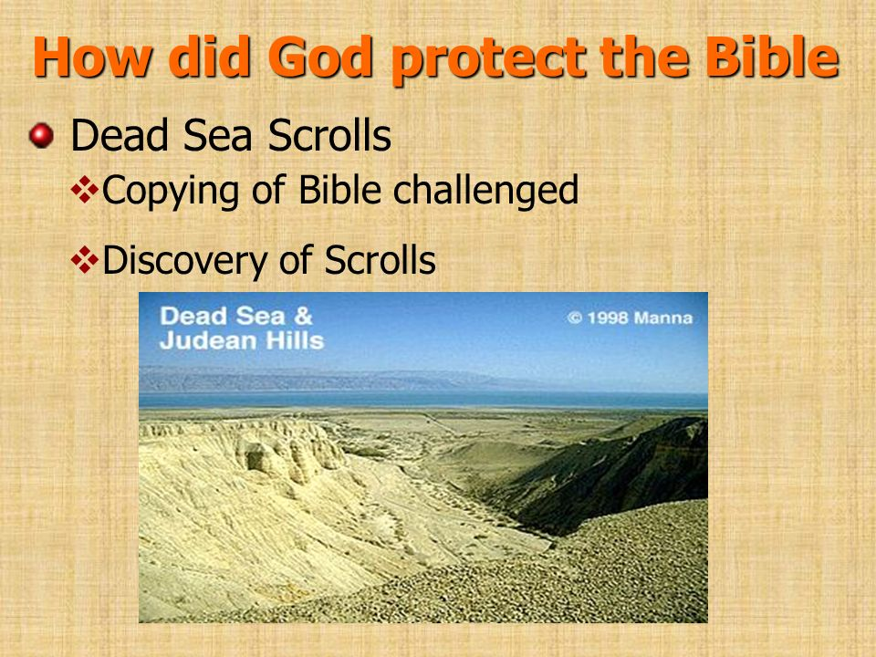 How did God protect the Bible