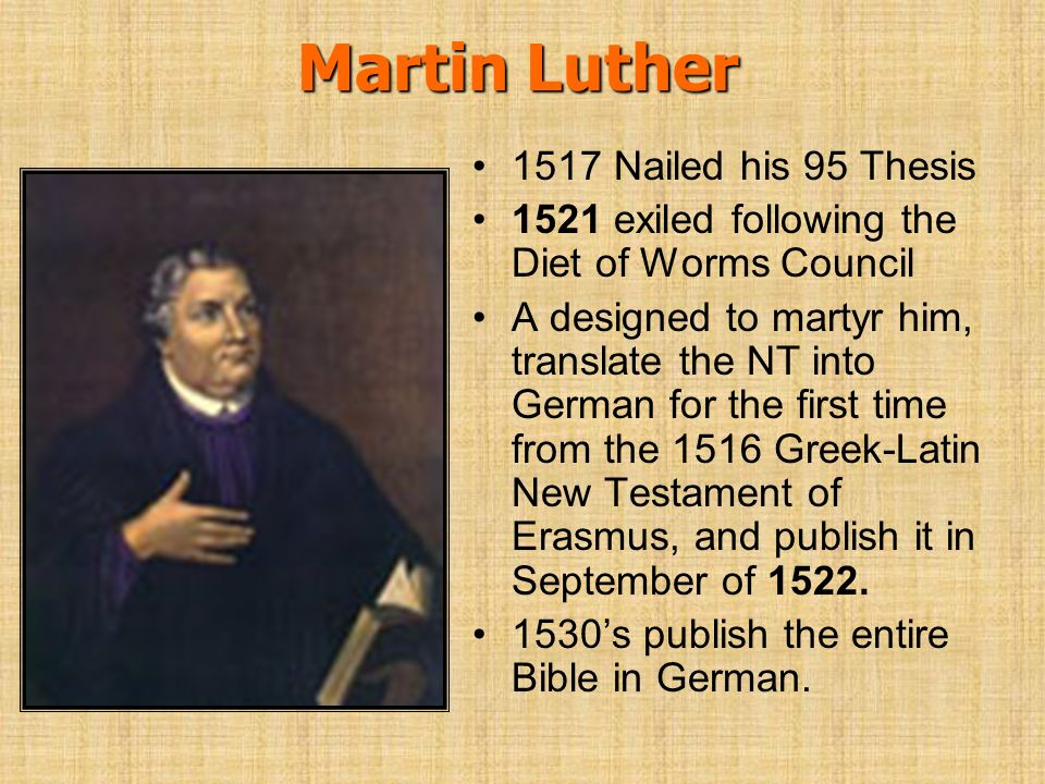 history of martin luther and the 95 thesis Martin luther's 95 theses paved the way for the birth of a great martin luther and his 95 theses print phillip history of the christian church.