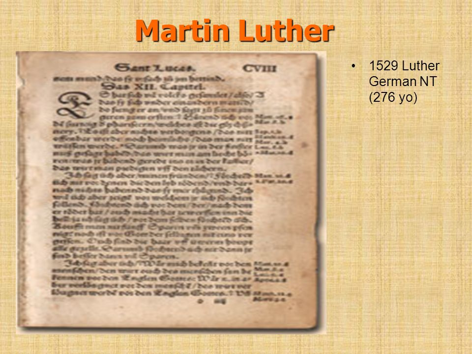 Martin Luther 1529 Luther German NT (276 yo)