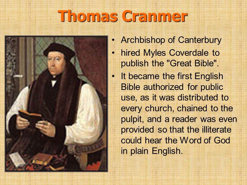 Thomas Cranmer Archbishop of Canterbury