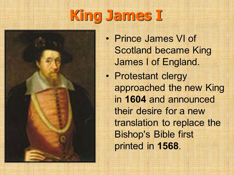 King James I Prince James VI of Scotland became King James I of England.