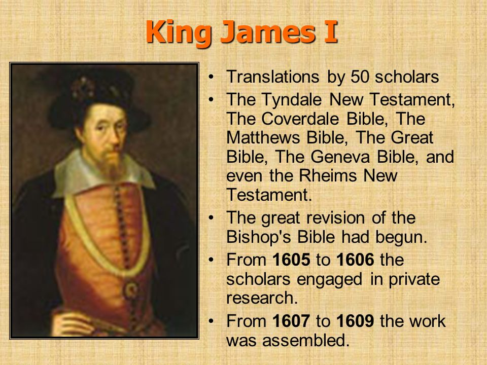 King James I Translations by 50 scholars