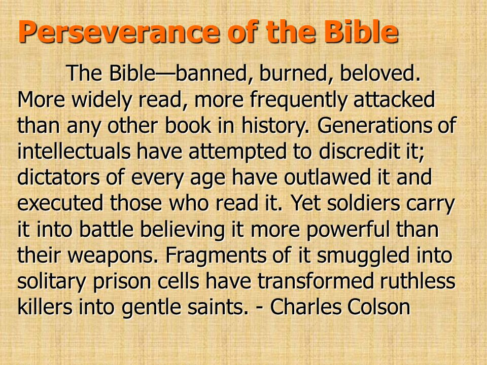 Perseverance of the Bible