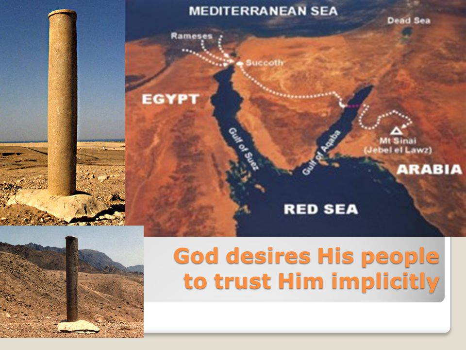 God desires His people to trust Him implicitly