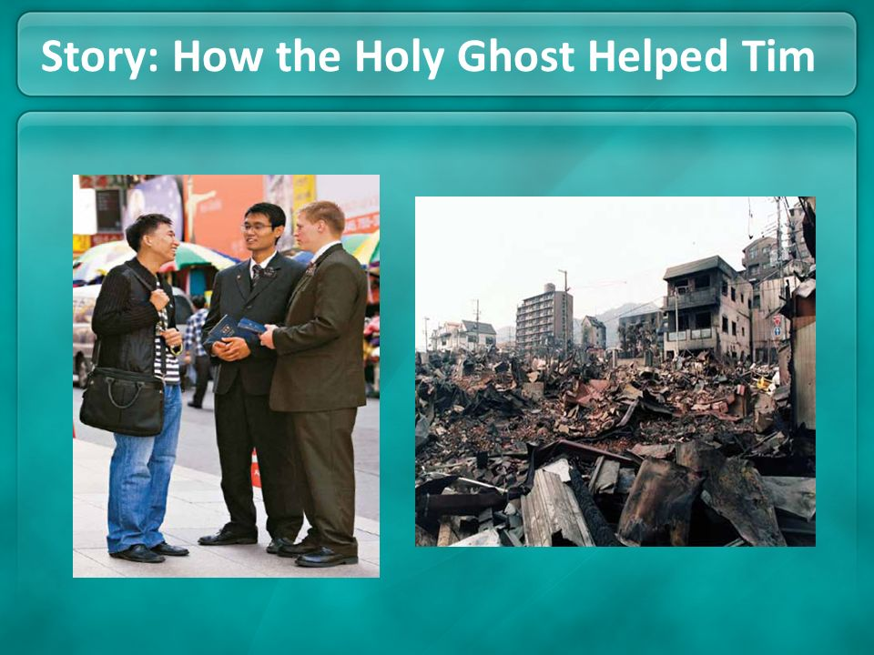 Story: How the Holy Ghost Helped Tim