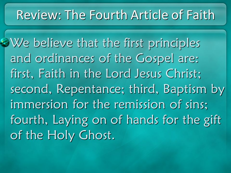 Review: The Fourth Article of Faith