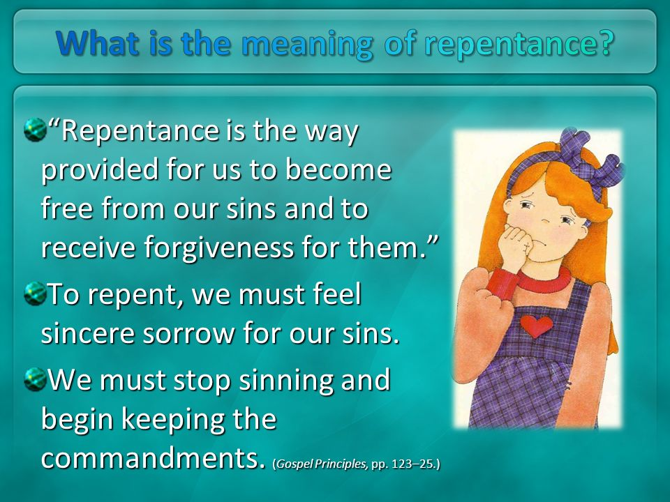 What is the meaning of repentance