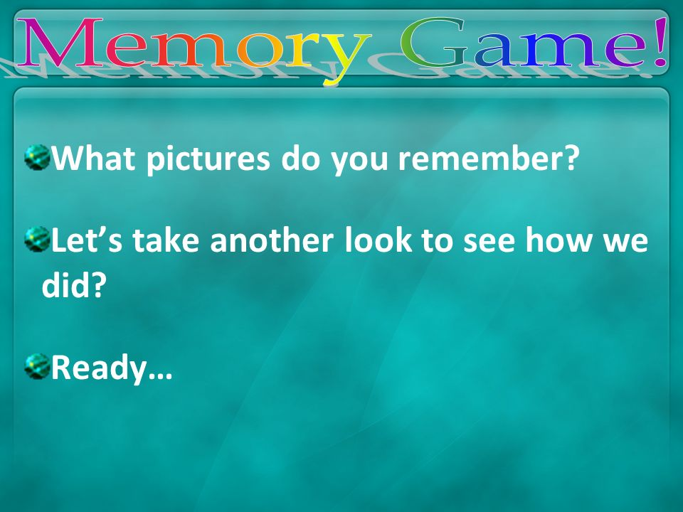 What pictures do you remember