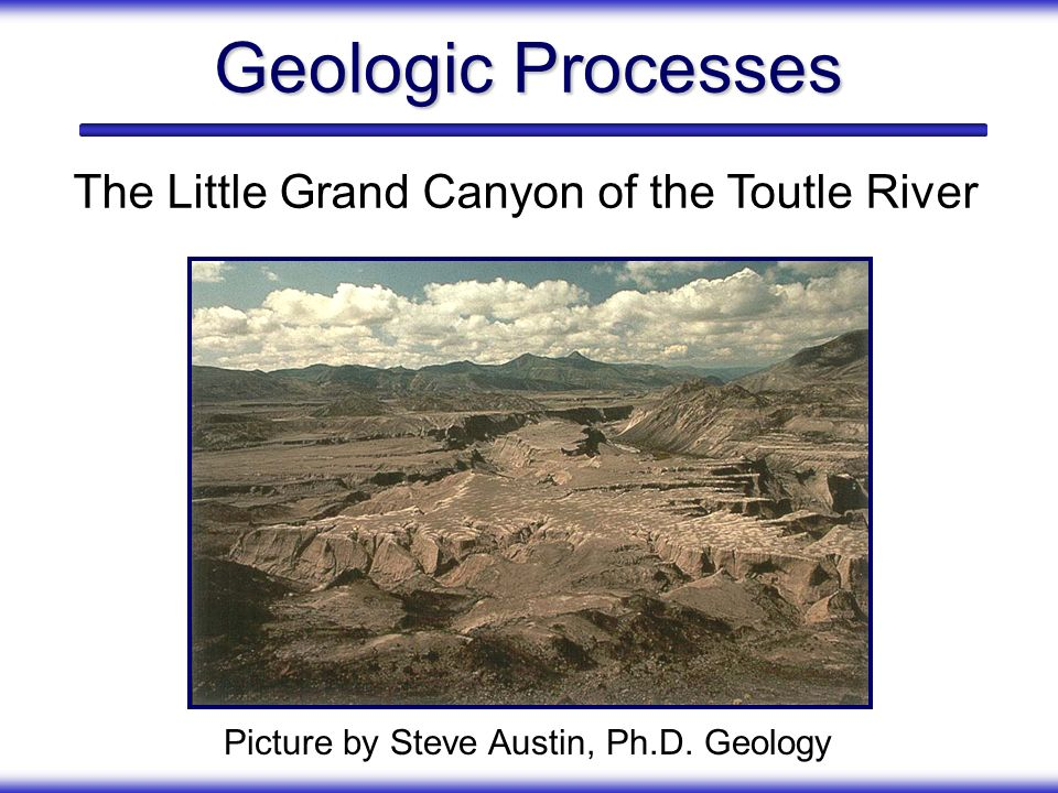 Geologic Processes The Little Grand Canyon of the Toutle River