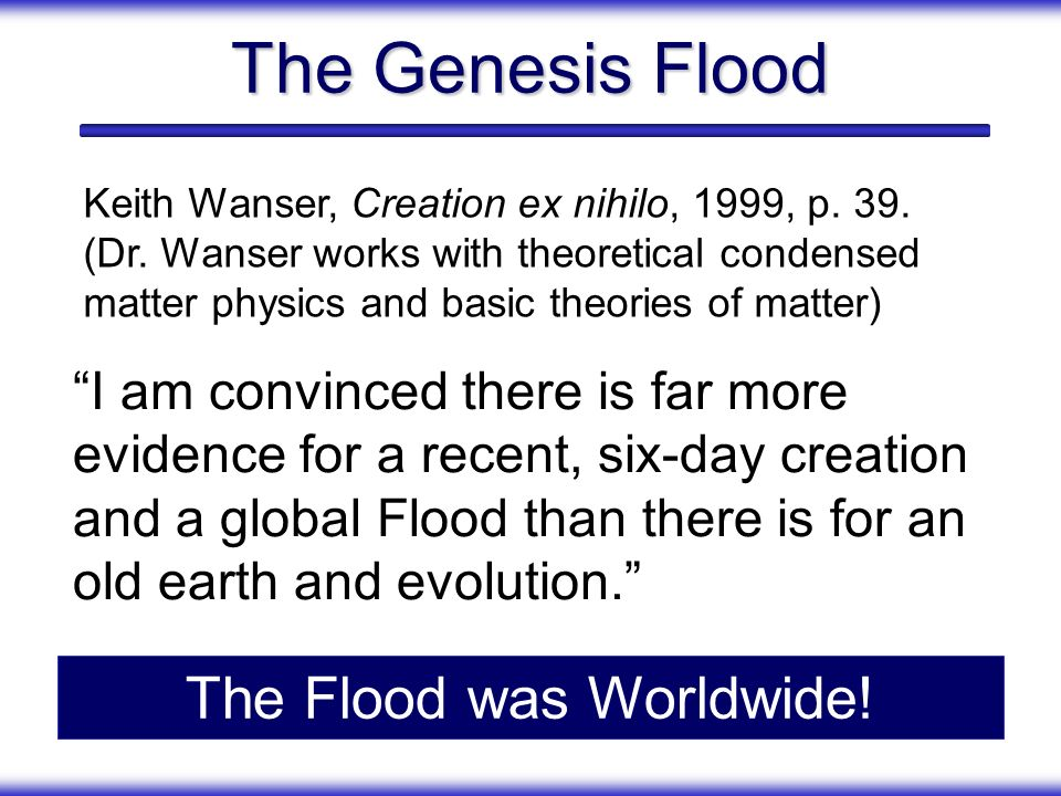 The Flood was Worldwide!