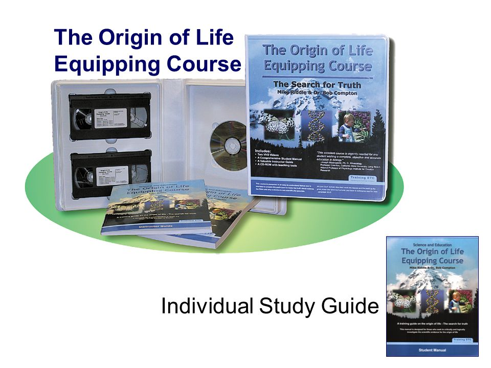 The Origin of Life Equipping Course Individual Study Guide