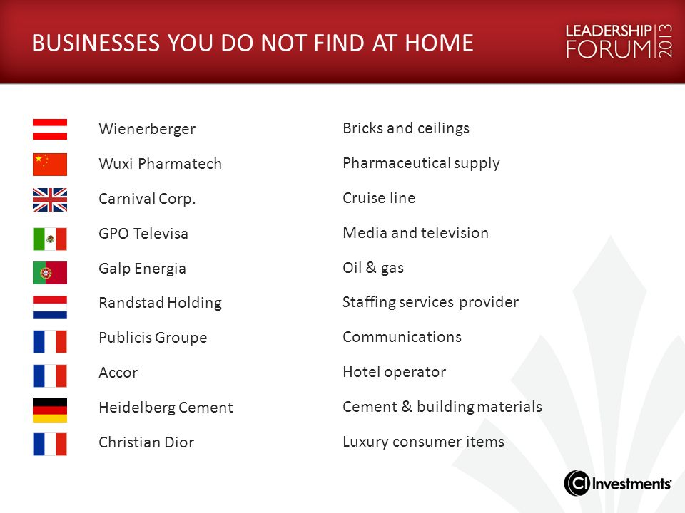 BUSINESSES YOU DO NOT FIND AT HOME