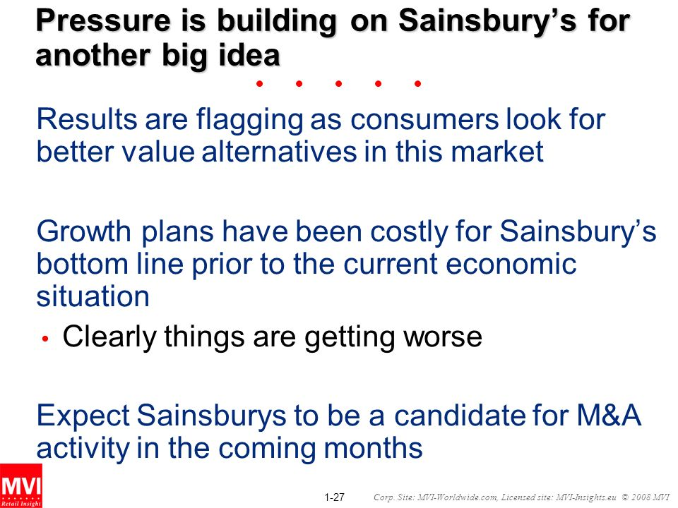 Pressure is building on Sainsbury's for another big idea