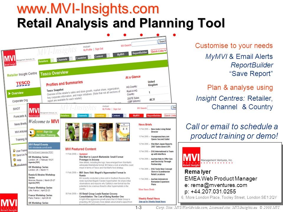 Retail Analysis and Planning Tool
