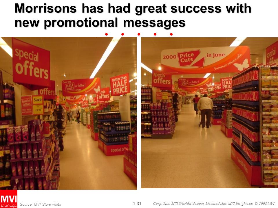 Morrisons has had great success with new promotional messages