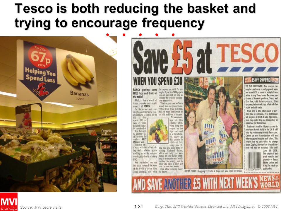 Tesco is both reducing the basket and trying to encourage frequency