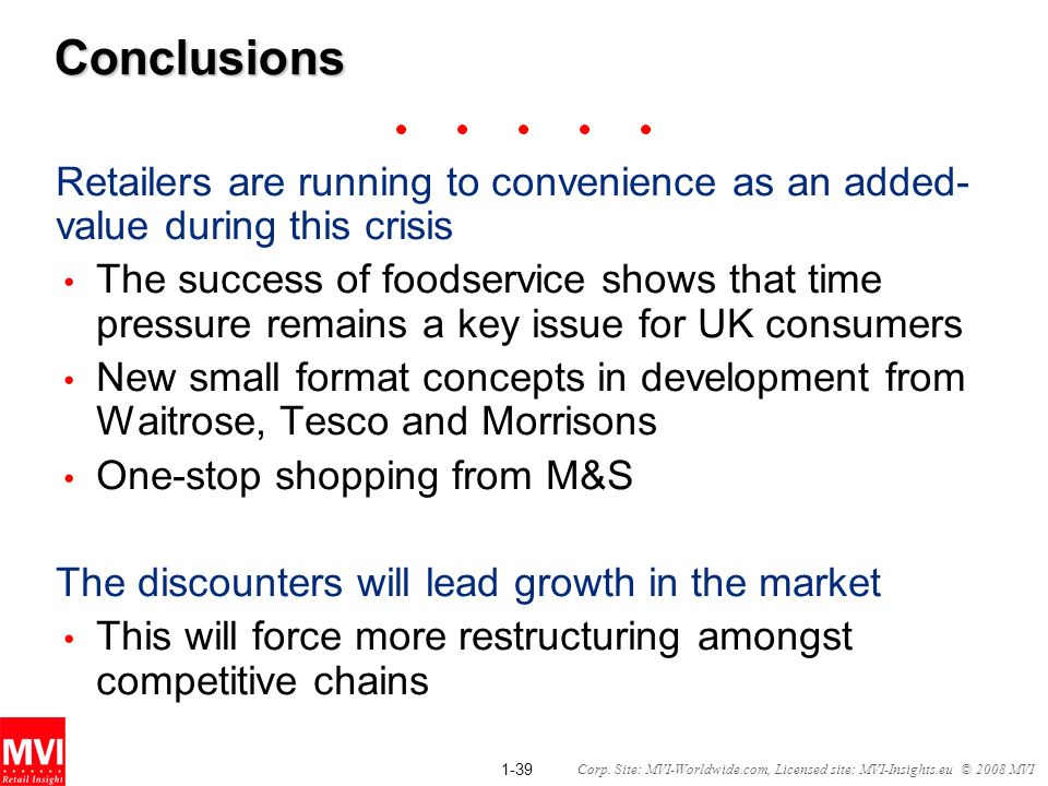 Conclusions Retailers are running to convenience as an added-value during this crisis.