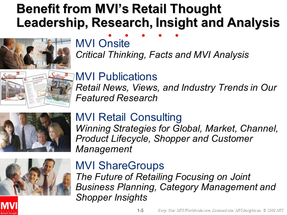 Benefit from MVI's Retail Thought Leadership, Research, Insight and Analysis