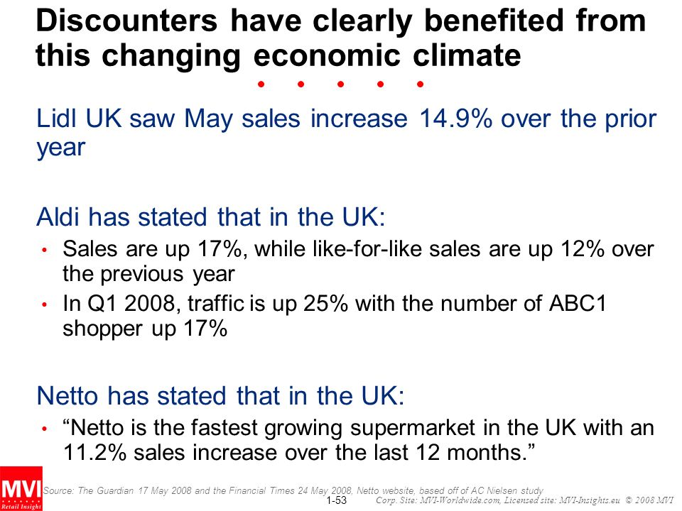 Discounters have clearly benefited from this changing economic climate