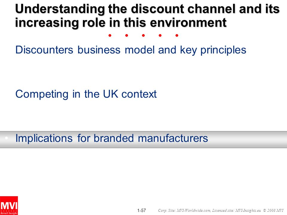 Understanding the discount channel and its increasing role in this environment