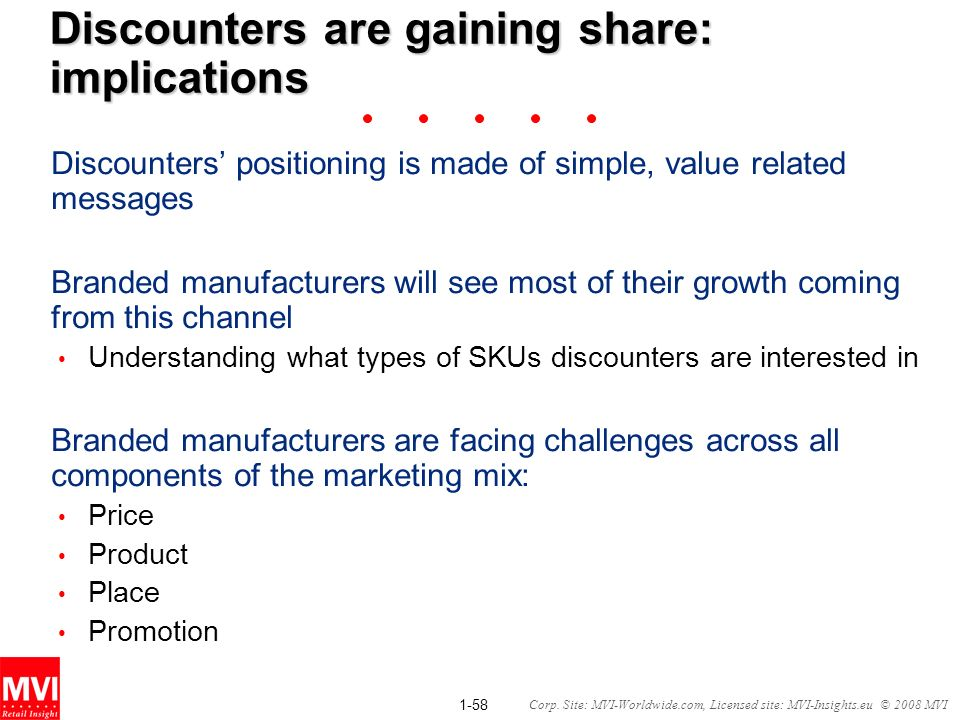 Discounters are gaining share: implications