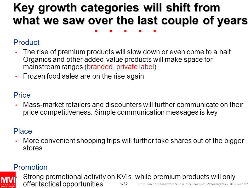 Key growth categories will shift from what we saw over the last couple of years