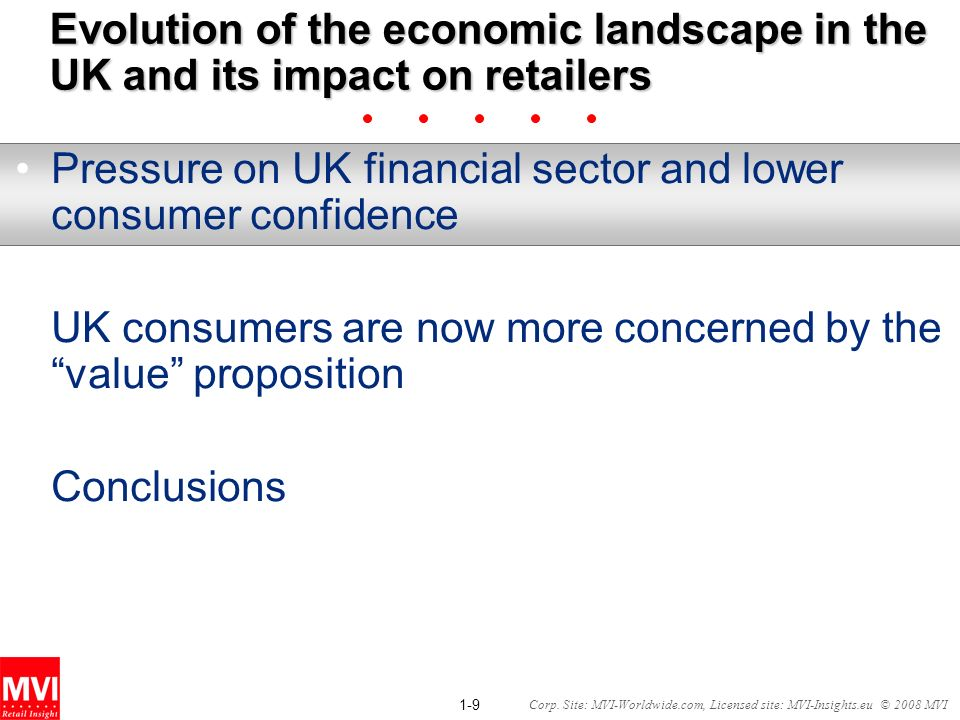 Evolution of the economic landscape in the UK and its impact on retailers