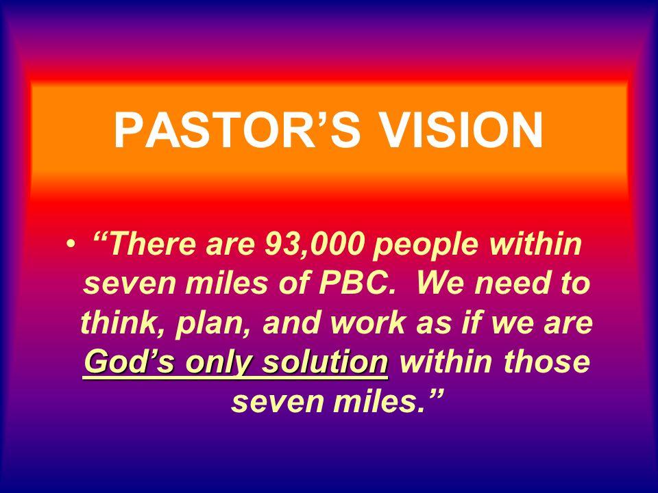 PASTOR'S VISION
