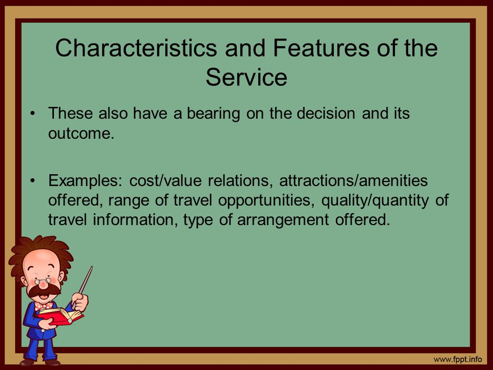 Characteristics and Features of the Service