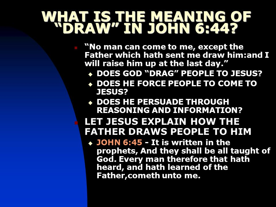 WHAT IS THE MEANING OF DRAW IN JOHN 6:44