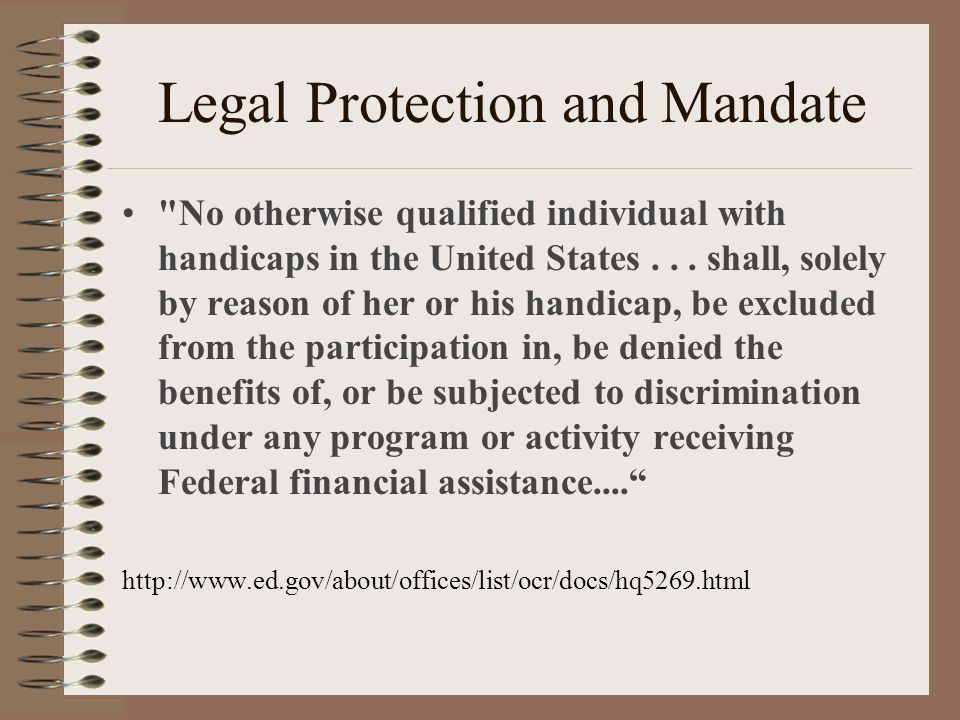 Legal Protection and Mandate