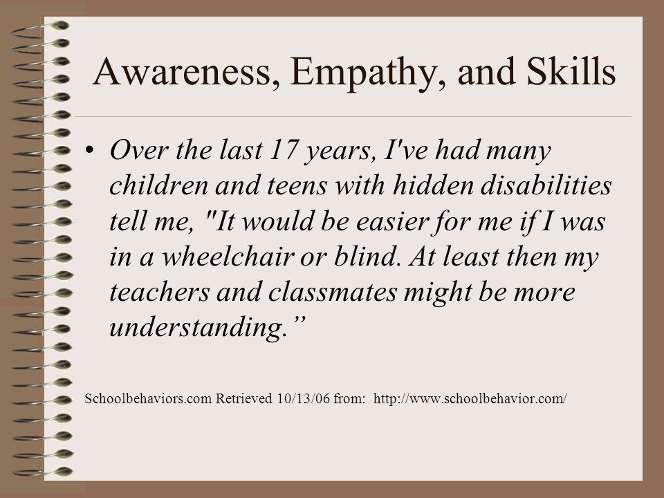 Awareness, Empathy, and Skills