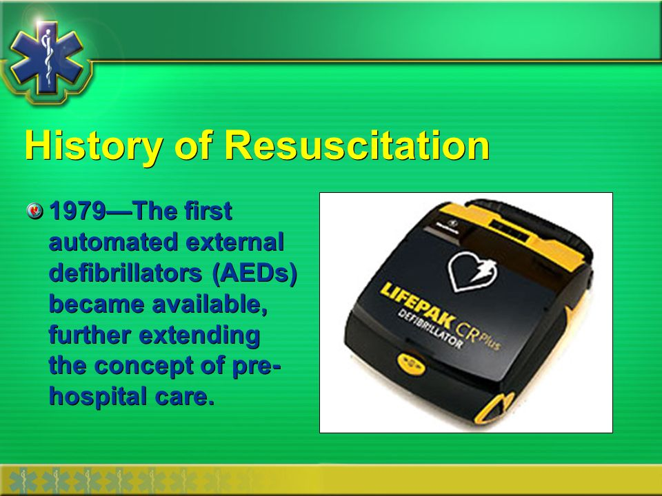 History of Resuscitation