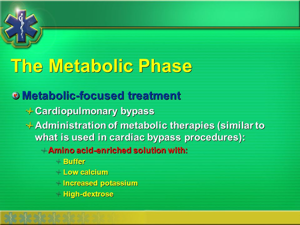 The Metabolic Phase Metabolic-focused treatment Cardiopulmonary bypass